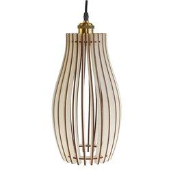 Подвесной светильник из дерева GLANZEN ART-0004-60-white