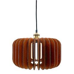 Подвесной светильник из дерева GLANZEN ART-0007-60 square dark