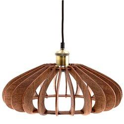 Подвесной светильник из дерева GLANZEN ART-0009-60 mini-pear dark
