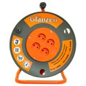 Удлинитель силовой на катушке GLANZEN 4 гн. ПВС 2х0,75 ЕВ-50-001