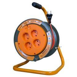 Удлинитель силовой на катушке GLANZEN 4 гн., 20м ЕВ-20-002
