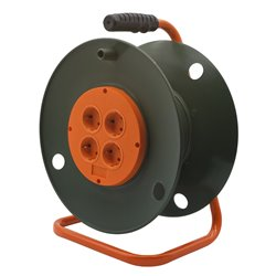 Катушка без провода GLANZEN 4 штепс. гн. с заземл. Ф300 мм EK-00-300