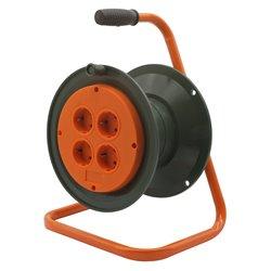 Катушка без провода GLANZEN 4 штепс. гн. с заземл. Ф210 мм EK-00-210