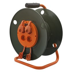 Катушка без провода GLANZEN 4 штепс. гн. с заземл. Ф300 мм EK-05-300