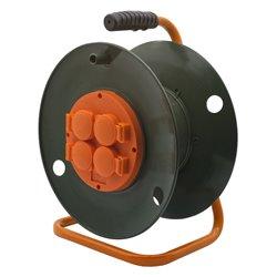 Катушка без провода GLANZEN 4 штепс. гн. с заземл. Ф300 мм EK-06-300
