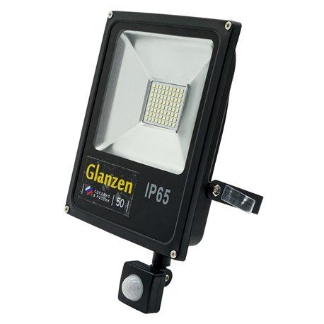 Светодиодный прожектор c датчиком движения GLANZEN FAD-0013-50